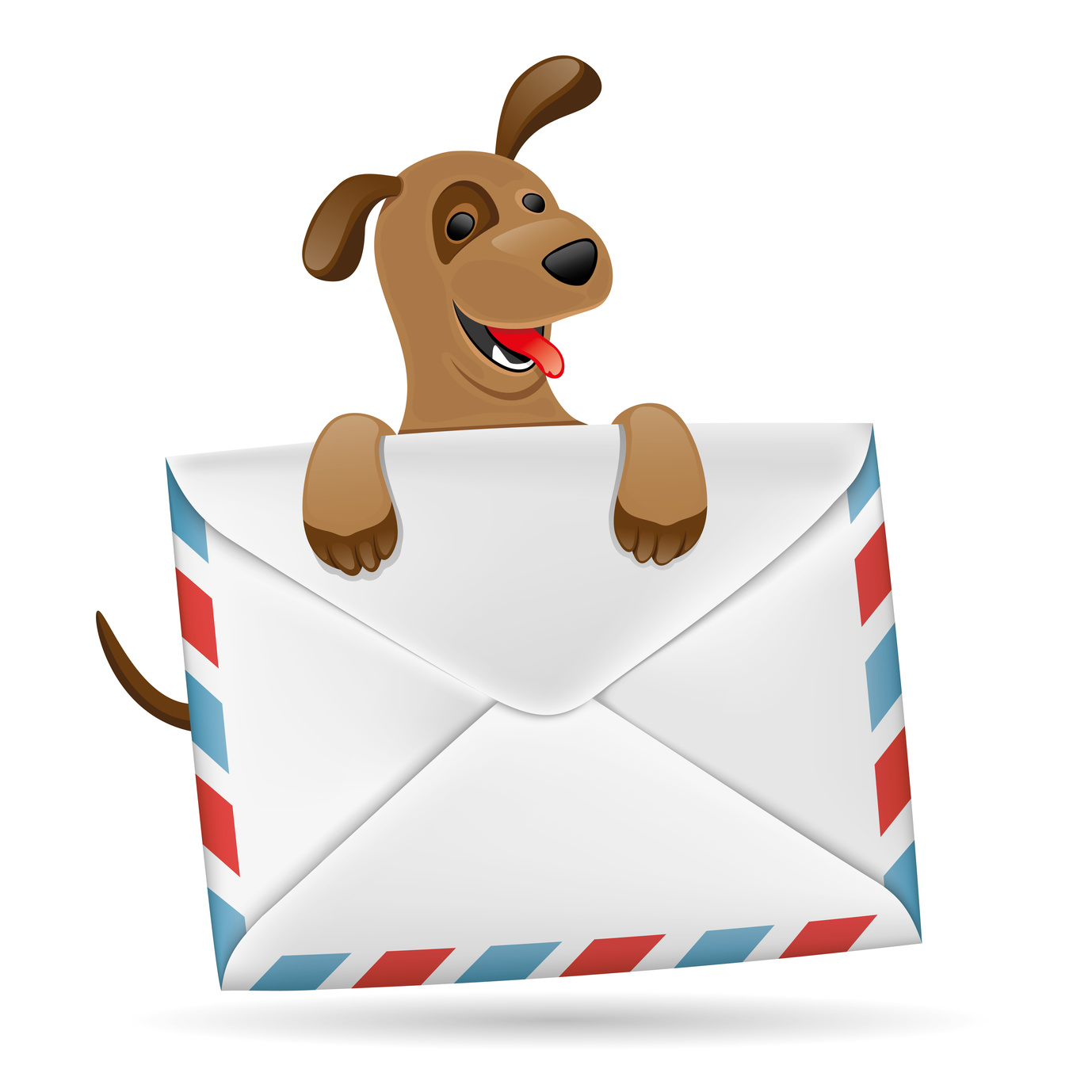 Dog with envelope.