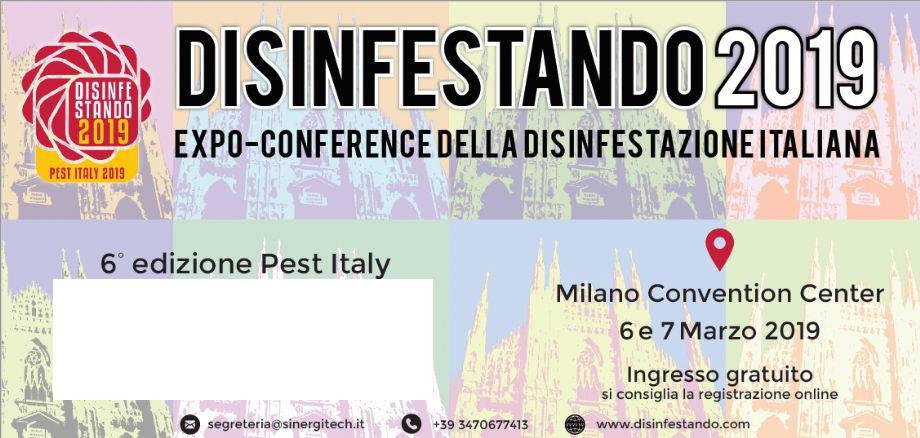UNION B.I.O. A DISINFESTANDO 2019, Milano 6-7 marzo