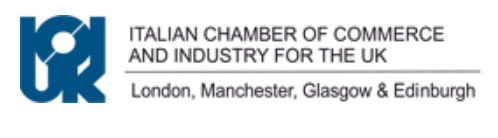 UNION B.I.O.  fa parte della  Italian Chamber of Commerce for the UK