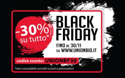 Il BLACK FRIDAY di UNION B.I.O.: -30% su tutti i prodotti!